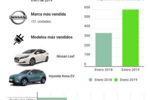 Vehículos eléctricos 2019. Enero augura un año de máximos.