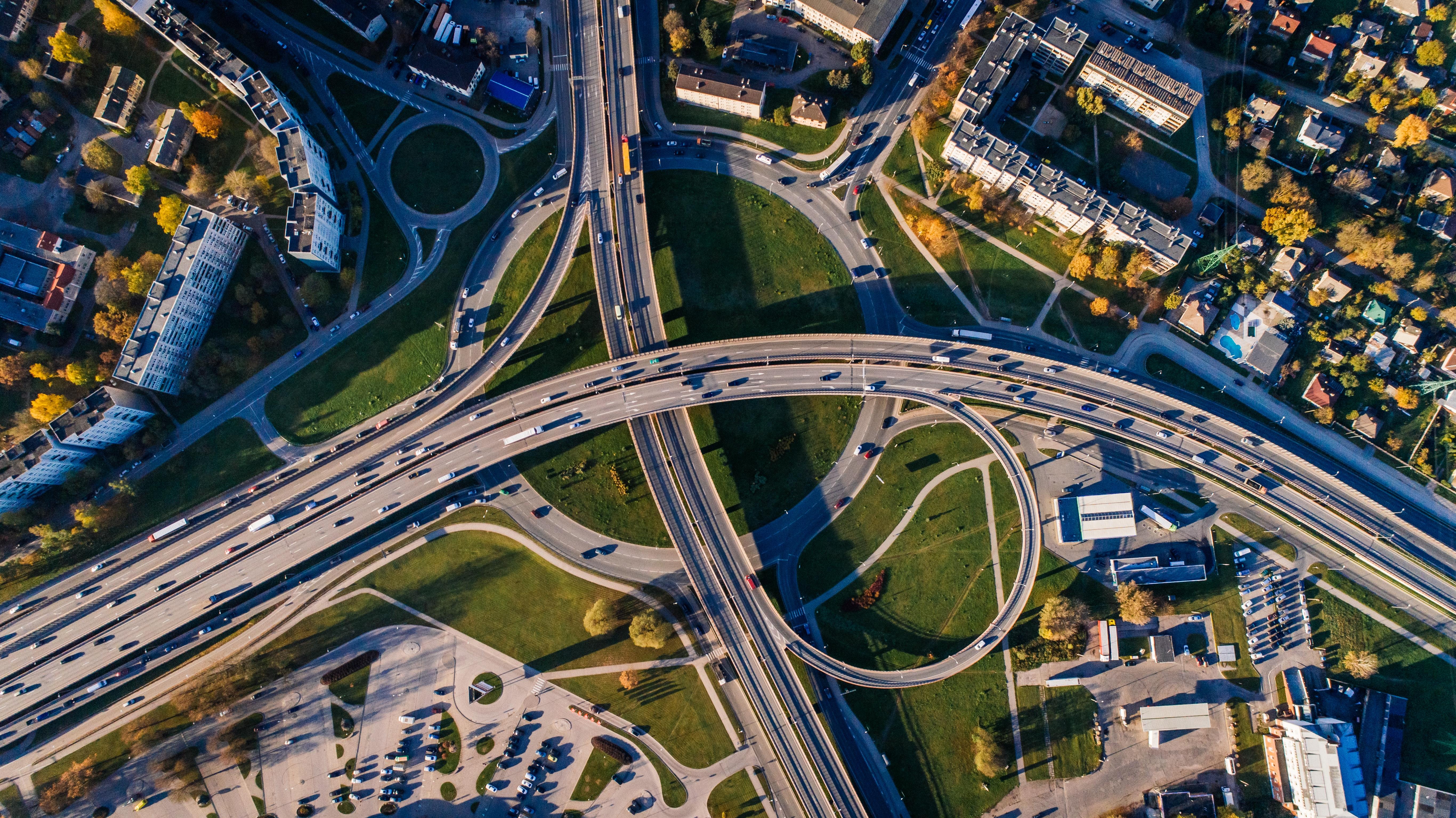autovía vista aérea