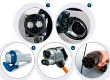 Varios productos para coches eléctricos