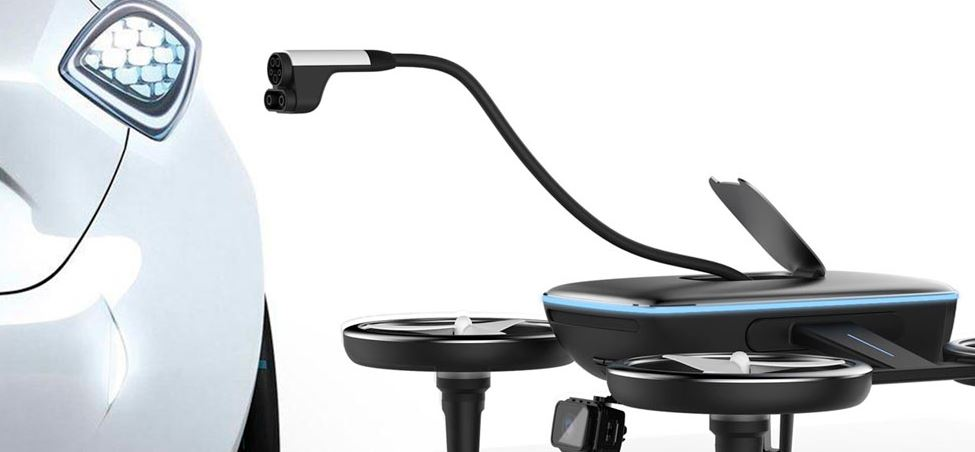 Dron Emergencia cargador portátil coche eléctrico