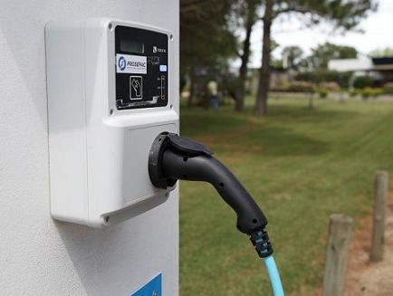 Punto de carga de exterior para coches eléctricos
