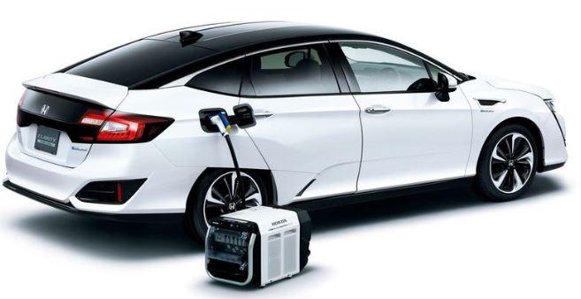 Vehículo cargando con generador electrico